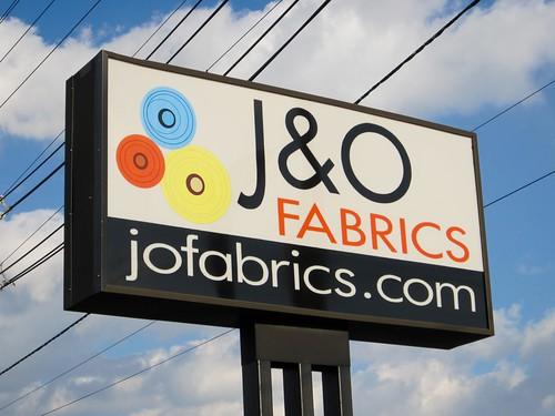 J & O Fabric Sign