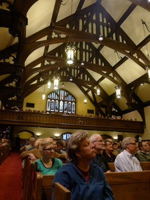 Gary Snyder Speaks to a Rapt Audience at Plymouth Congregational Church in Minneapolis