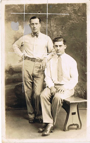 Joseph Matracia Jr. (boxed) and Gus Matracia