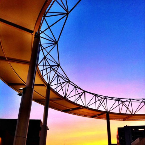 Q'sモールの夕焼け! #sunset