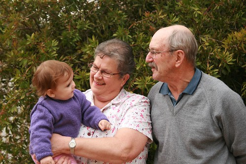 Cuddles with Grandma and Grandpa