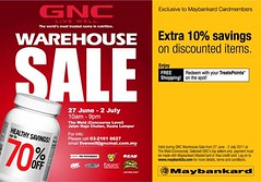 GNC Warehouse Sale 27 Jun - 2 Jul 2011