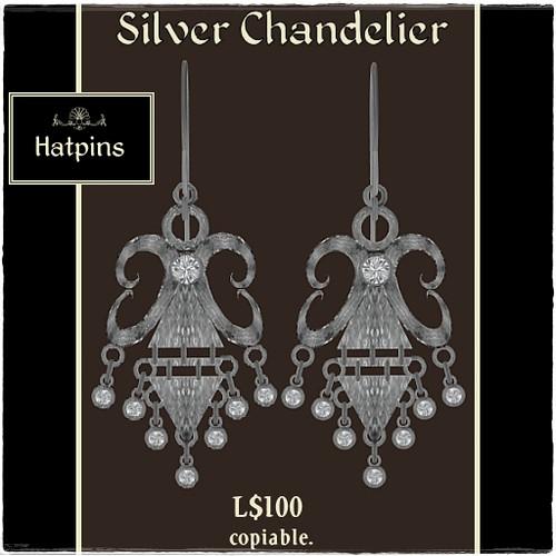 Hatpins - Silver Chandelier Earrings