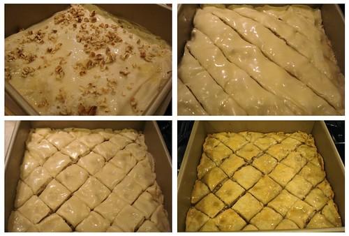 making baklava!