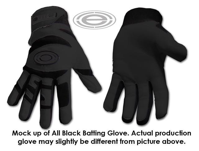all black glove mock up