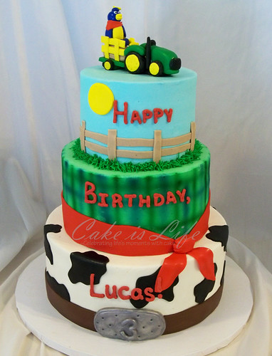Farm-themed Birthday Cake