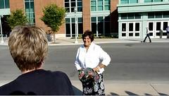 Will and Kate at Calgary Stampede - pix 25a - Shaheen Nenshi Nathoo (Mayor Naheed Nenshi's sister)