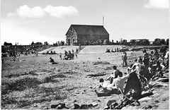 """Irvine Beach (with the former Lifeboat House in the background,  Inter-war Years?) • <a style=""""font-size:0.8em;"""" href=""""http://www.flickr.com/photos/36664261@N05/14238952291/"""" target=""""_blank"""">View on Flickr</a>"""