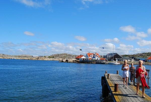 Bañistas en Marstrand