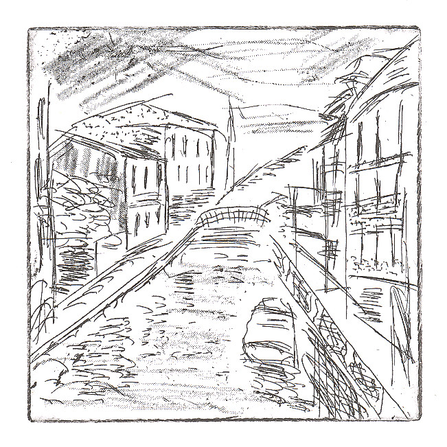 venice canal etching 01