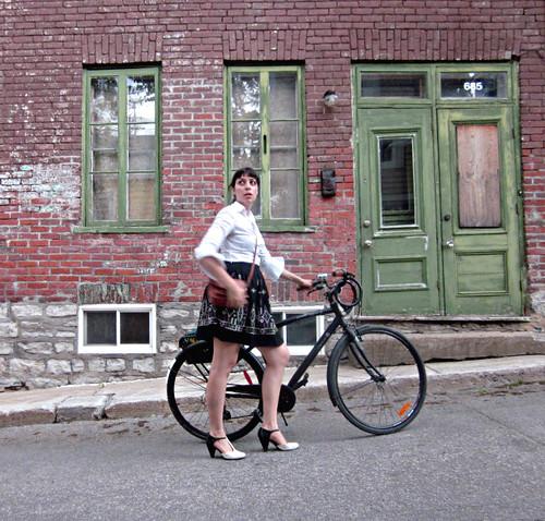 julia on a bike