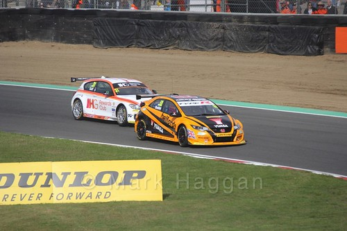 Gordon Shedden and Jack Goff during the BTCC Brands Hatch Finale Weekend October 2016