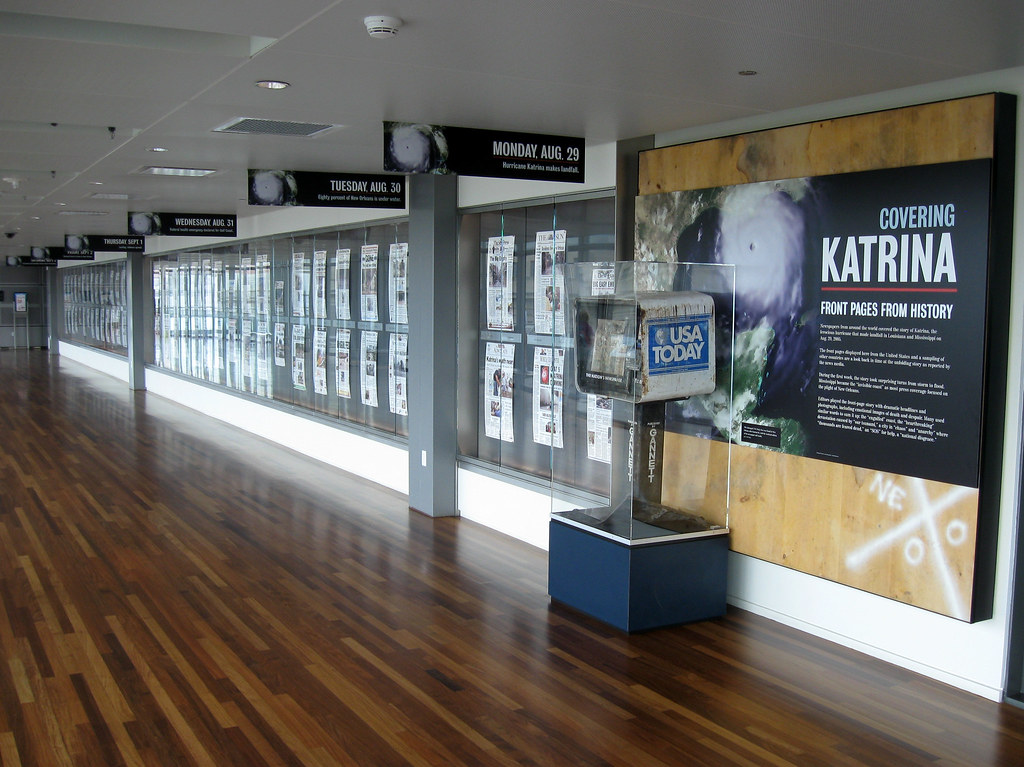 Katrina Exhibit at the Newseum