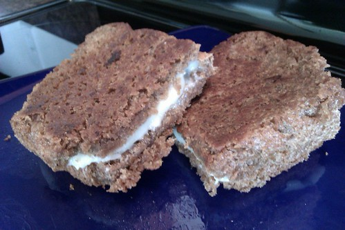 Grilled Cheese Sandwich on Homemade Whole Wheat Bread