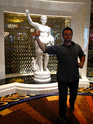 Michael with Statue