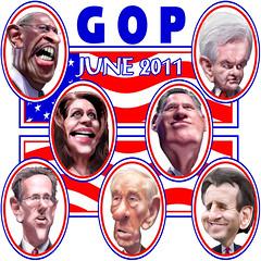 GOP Presidential Debate June 13, 2011 in New Hampshire