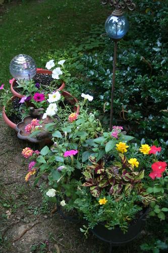 Pots near sitting area