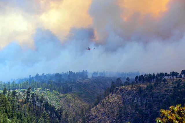 Chopper engages in the battle to save Los Alamos Canyon