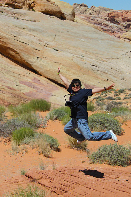 Jumping for Joy! Valley of Fire State Park, Nevada USA