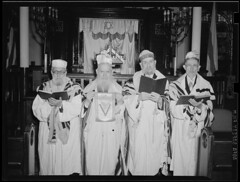 Rabbis in temple