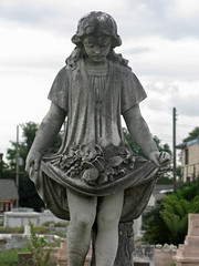 Hecker girl with flowers