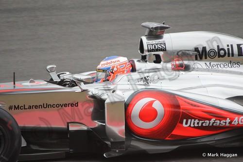 Jenson Button in Free Practice 2 at the 2013 British Grand Prix