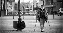 """Die Krücke. Die Krücken. Ein alter Mann mit Krücken. • <a style=""""font-size:0.8em;"""" href=""""http://www.flickr.com/photos/42554185@N00/30290895913/"""" target=""""_blank"""">View on Flickr</a>"""