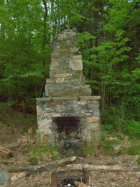 Trapper John Shelter Fireplace