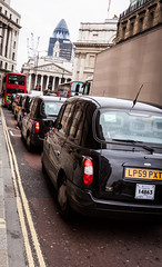 Row of londonian cabs