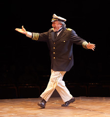 George Lee Andrews (Cap'n Andy) in Show Boat produced by Music Circus at the Wells Fargo Pavilion July 9 -14, 2013. Photo by Charr Crail.