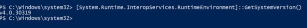 Powershell Get .Net Framework Version GetSystemVersion()
