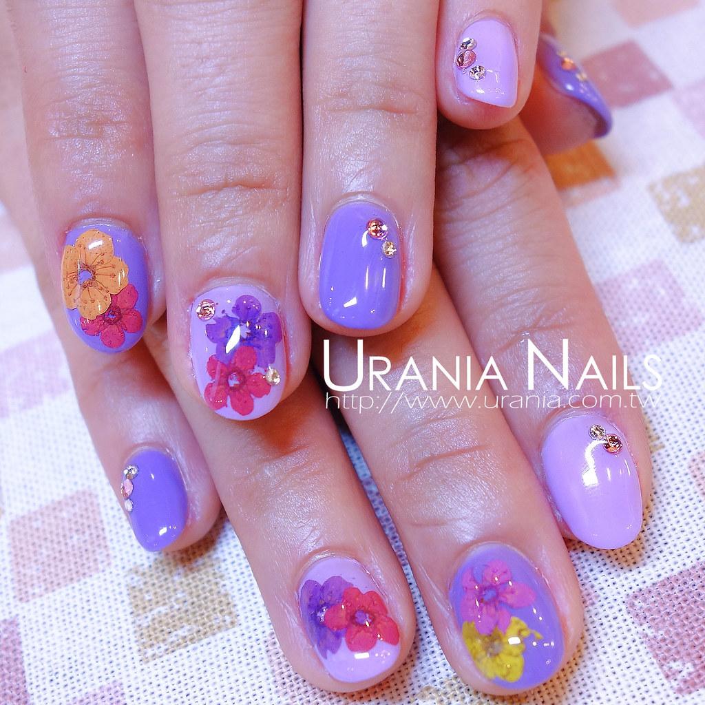 花卉凝膠指甲