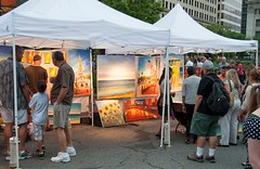 Mike Bryce at the WaterFire Arts Festival Plaza