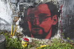 Edward Snowden, painted portrait IMG_8815