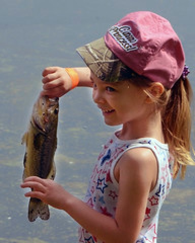 Youths angle for biggest catch in fishing rodeo at Burba Lake