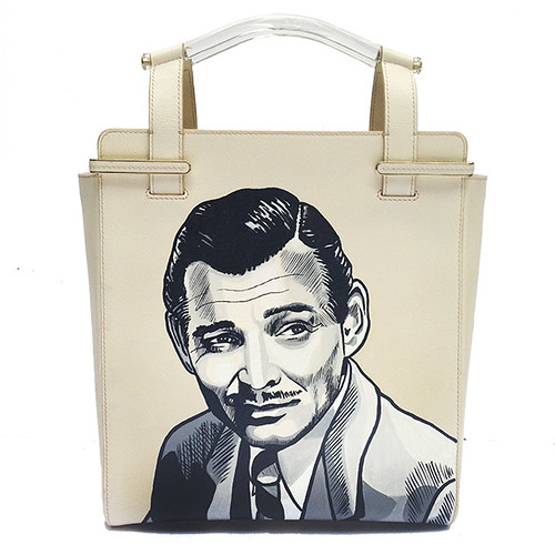 charlotte Olympia hand painted Clark Gable Bag
