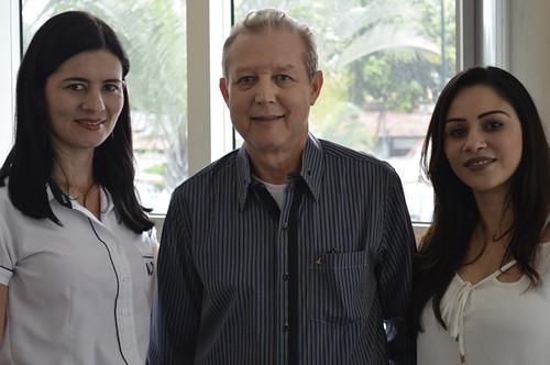 Meire de Fátima Rocha, José Maria Facundes e Marília  Carolina - Foto Emmanuel Franco