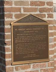 St. Vincents No 1 plaque