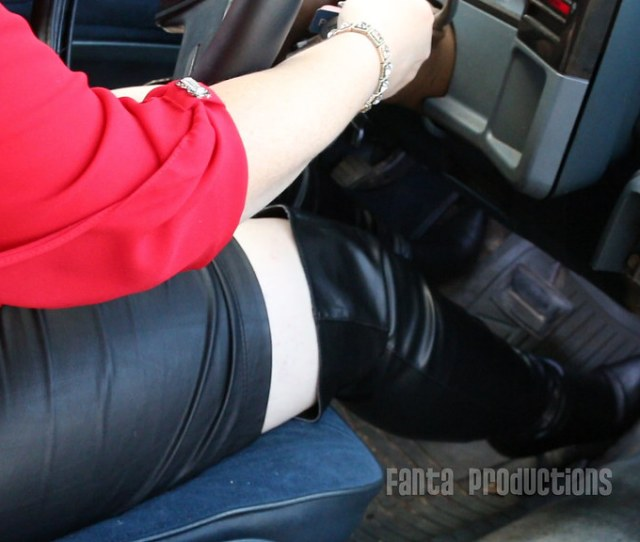 Sexy Librarian Car Troubles Fanta_productions Tags Carwonx27tstart Pedalpumping Cranking Carcranking Leather Leatherboots Leatherskirt
