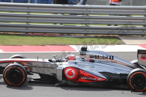 Jenson Button in Free Practice 3 at the 2013 British Grand Prix