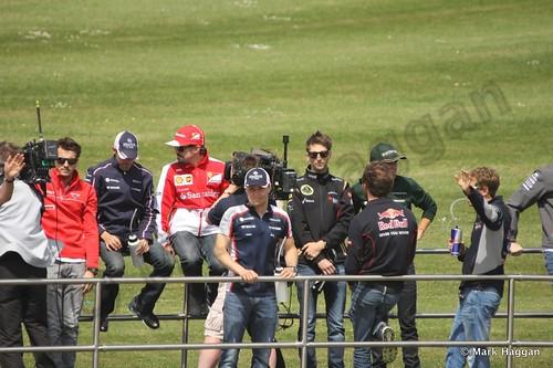 The Drivers' Parade at the 2013 British Grand Prix