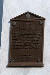 Italian Mutual benevolent tomb plaque