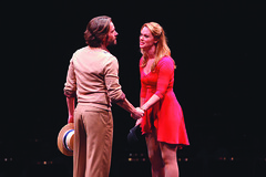 Eric Sciotto (Zach) and Kate Levering (Cassie) in A Chorus Line, produced by Music Circus at the Wells Fargo Pavilion June 24 – 29, 2014. Photos by Charr Crail.