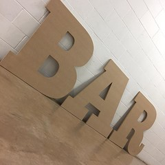 #BAR #sign for @depotcardiff #cncmachining #mdf #depot #cardiff #lastminute