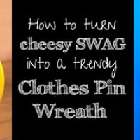 How Turn a Frisbee into a Clothes Pin Wreath--Fast!