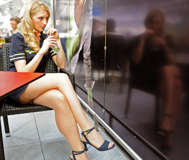 Jetlegs Jorg Ac Tags Blonde Stewardess Stockings Hotlegs Sexy Pretty Girl Woman