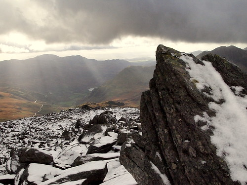 Shards of Rock and Sun from Glyder Fawr