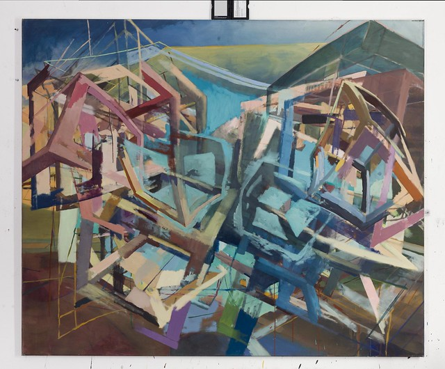 Accretion II, 150 x 180 cm, Eggtempera/Oil on muslin, 2016