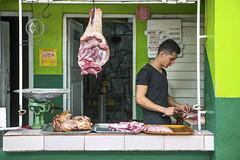 A local Cuban butcher.