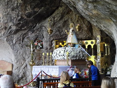 18C wooden statue of the Virgin, La Santina, patron of Asturias - La Santa Cueva